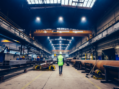 Industrial plant worker walking illustration most common causes of workplace injuries